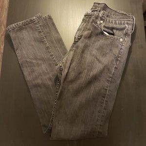 Levis black skinny jeans